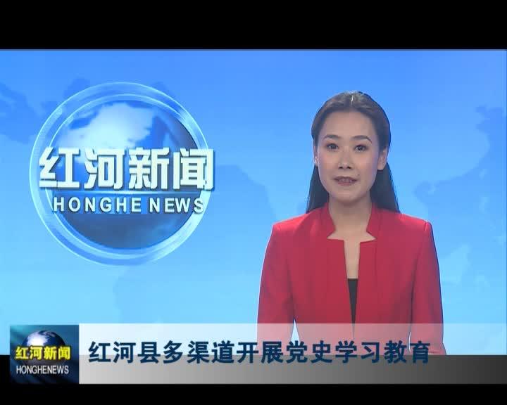 红河县多渠道开展党史学习教育